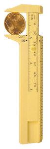 Coin-Gauge-Caliper-Measures-Depth-Size-amp-Diameter-Plastic-Millimeter-Pocket-Tool