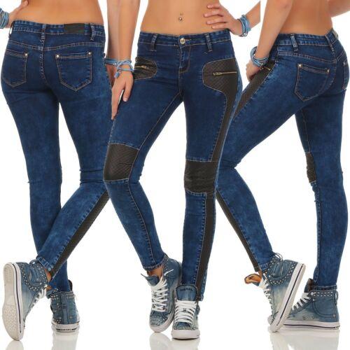 11280 Voluptueuse Jeans Femmes Jean Skinny Pantalon Stretch-Denim Jeans Femmes Cuir synthétique