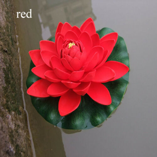 Artificial EVA Lotus Flower Water Lily Floating Plant 18cm Home Yard Decor