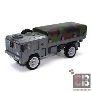 Ambitieux Cb Custom Armée 5 T On 4x4 Camion Transporteur Avec Bâche En Lego ® Pierres Camo-afficher Le Titre D'origine