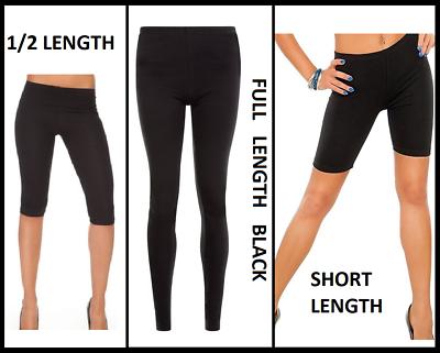 Ladies Capri Leggings Cropped Length Cotton Comfortable Summer Variations
