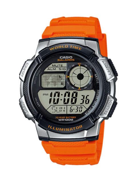 Casio Collection Uhr AE-1000W-4BVEF Digital Orange