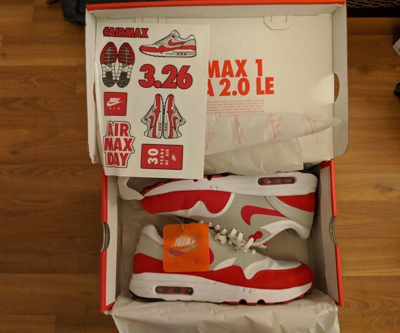 ac24cd68b69da Nike Air Max 1 Ultra 2.0 OG OG OG University Red 908091 100 Size 8 8d64cb