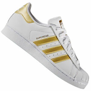 Adidas-Originals-Superstar-J-Baskets-Enfants-Blanc-or-