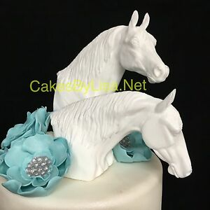 Horse Head Wedding Cake Topper set of 2