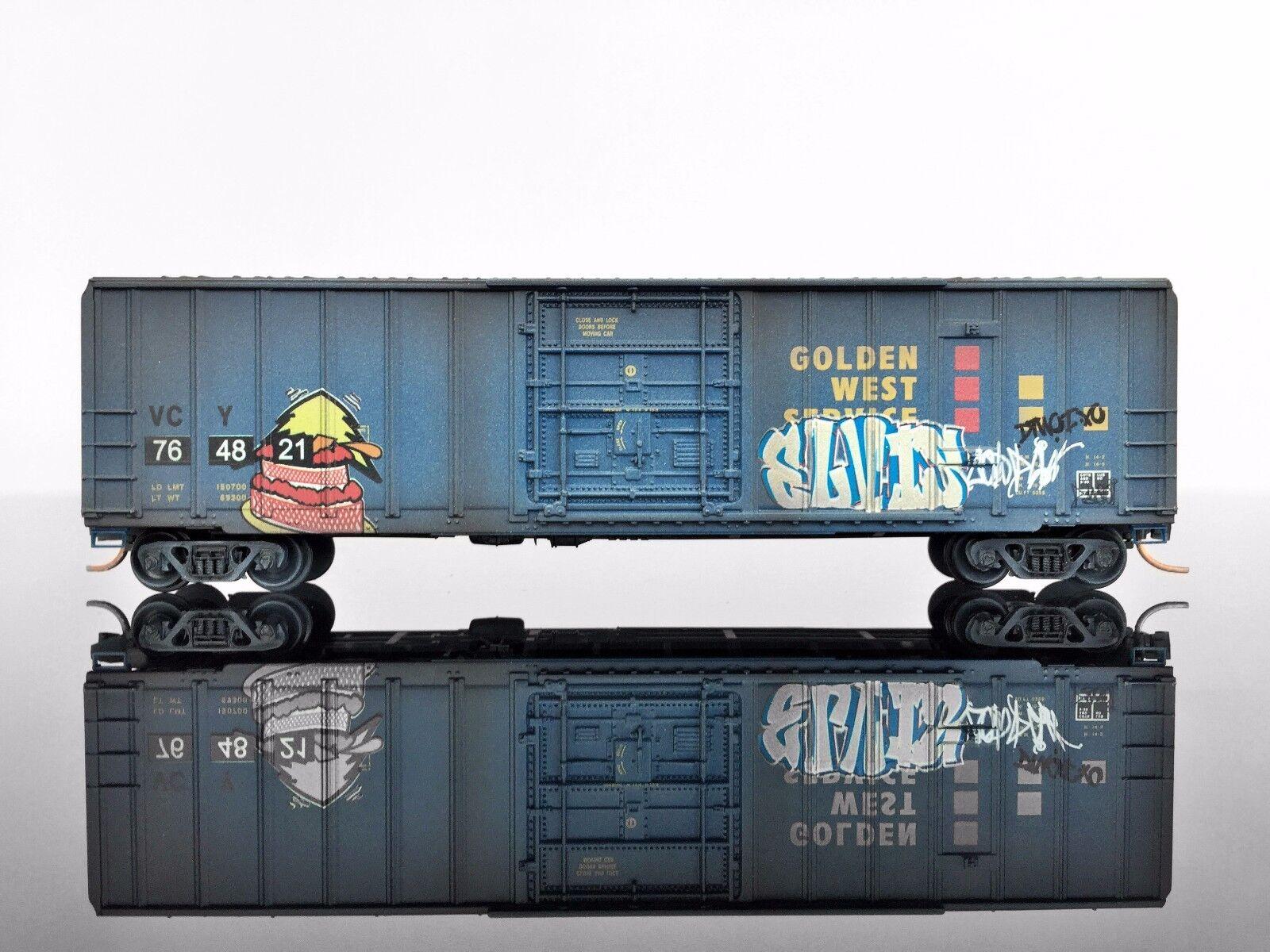 MTL Micro-Trains 02752320 50' Rib Side Box Car WEATHERED Graffiti GWS