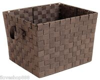 Rattan Wicker Woven Storage Baskets Tote Handle Cloth Large Brown Sturdy Laundry
