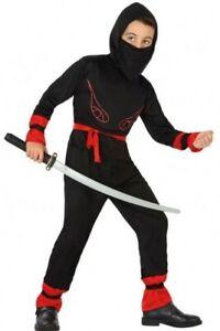 Magasiner Pour Pas Cher Déguisement Garçon Ninja Noir 7/8/9 Ans Enfant Japon Neuf Pas Cher Haute RéSilience