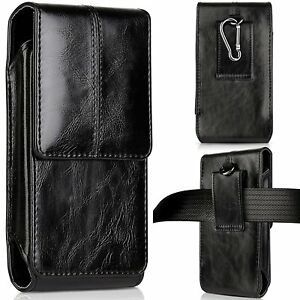 LEATHER-CARRYING-POUCH-CASE-COVER-BELT-CLIP-HOLSTER-FOR-IPHONE-X-8-7-6-6S-PLUS