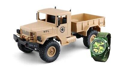 Amewi U.s. Militare Truck 4wd 1:16 2,4ghz Rtr In Sandfarbend + Orologio - 22328-mostra Il Titolo Originale