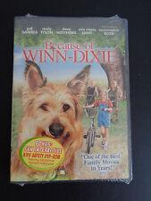 BECAUSE OF WINN-DIXIE Movie DVD New 2005 Bonus Kids Safety DVD-ROM Free Shipping