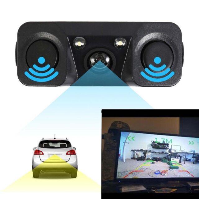 3in1 170°Car Visual Reversing Rear View Camera with Backup Radar Parking Sensor
