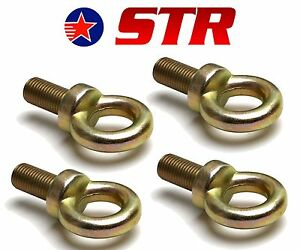 Eyebolt-for-Racing-Harness-Seat-Belt-Mounting-23mm-long-Eyelet-Rally-x4-Pieces