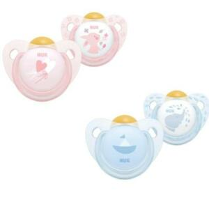 NUK Latex Rose/ Blue Soothers 0-6m/6-18m  2 Pack