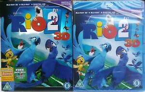 RIO-2-3D-BLU-RAY-BLU-RAY-2014-WITH-SLIPCOVER-BRAND-NEW-amp-SEALED