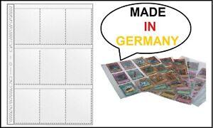 100-X-A4-Feuilles-de-Collecte-9-Sacs-Protectrices-Cartes-a-Echanger-Trading-Etui