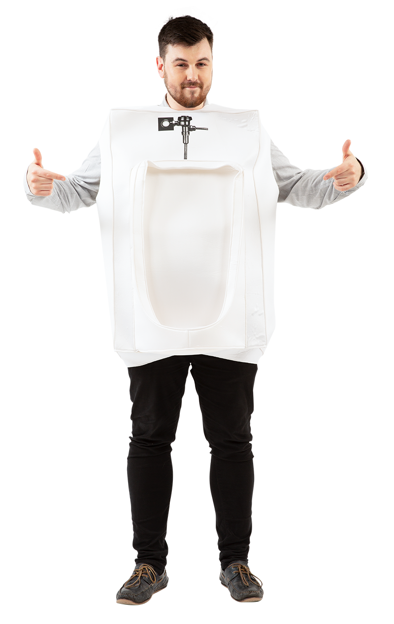 Mens Urinal Toilet Loo Stag Do Funny Halloween Fancy Dress Costume