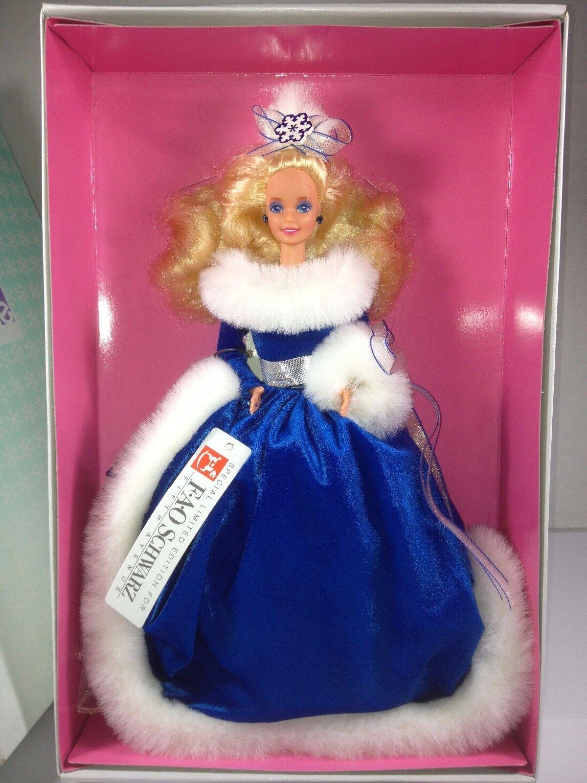 Fantasía De Invierno Muñeca Barbie Fao Schwartz edición SPEC 1990 Nuevo en caja nunca se muestra