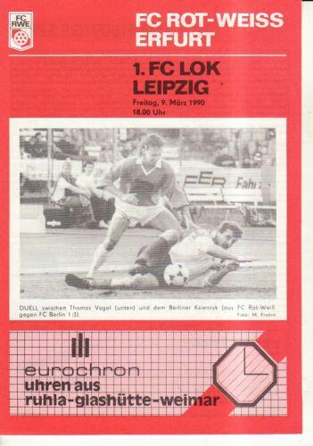 1 OL 89//90 FC Rot-Weiß Erfurt FC Lok Leipzig