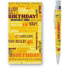 Retro 51 Tornado Birthday Yellow Rollerball Pen