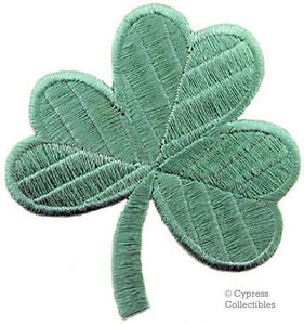 LIGHT-GREEN-CLOVER-PATCH-IRISH-SHAMROCK-Embroidered-Iron-On-GOOD-LUCK-SOUVENIR