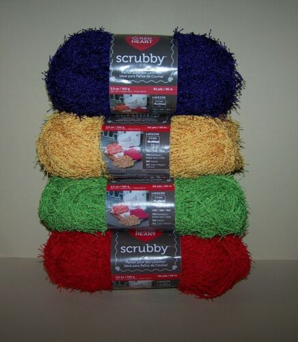 Red Heart Scrubby Yarn Choose Color