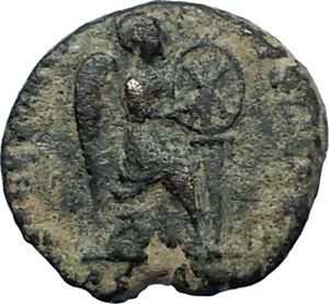 EUDOXIA-Arcadius-Wife-401AD-Authentic-Ancient-Roman-Coin-VICTORY-CHI-RHO-i67514