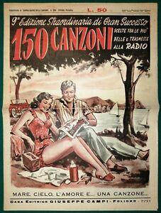 Rivista-150-canzoni-Supplemento-al-Giornalissimo-della-canzone-1951