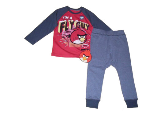 RAGAZZI Pigiami Angry Birds LUNGHE 3 4 5 6 7 8 9 10 11 12 13 /& 14 anni