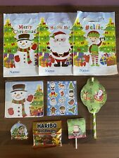 12-144 Sheets of Christmas Xmas Kids Stickers Santa Rudolph Elf//Elves Party Bag