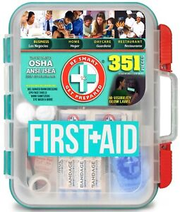 351 piece Emergency First Aid Kit Home Workplace Survival OSHA ANSI