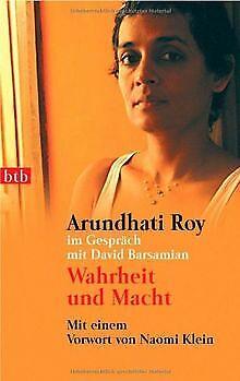 Wahrheit und Macht. Arundhati Roy im Gespräch mit David ...   Buch   Zustand gut