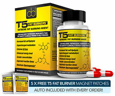 T5 FAT BURNERS CAPSULES -MAX STRONGEST LEGAL SLIMMING / DIET & WEIGHT LOSS PILLS