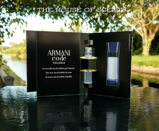 e72669a1ec 2x Giorgio Armani Code Colonia Pour Homme .04 Oz Sample Spray for ...