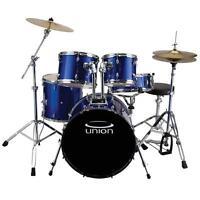 Union Drum Set U5 5-piece W/ Hardware, Cymbals & Throne Blue