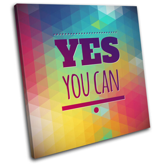 Office Motivational Typography SINGLE CANVAS WALL ART Picture Print