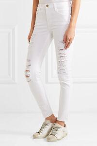 Le Maigre De Jeanne En Difficulté Des Jeans Mi-hauteur - Denim Cadre Blanc dP7Iv