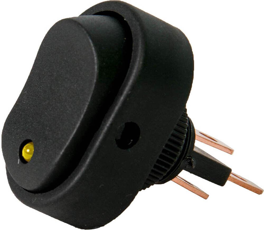 20x Wippschalter Rund Beleuchtet Rot//Grün//Gelb//Blau LED Snap In DC12V Auto 16A