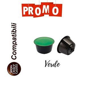 100 Cialde Capsule Caffe Compatibile Nescafè Dolce Gusto Miscela Verde Cremoso