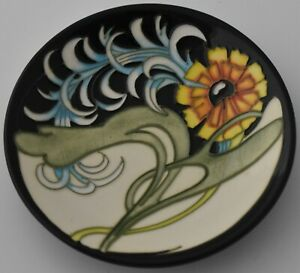 Moorcroft-Pottery-Lily-Plume-Dish-Tray-Designed-By-Emma-Bossons-Floral