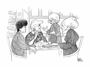 Al-Hirschfeld-039-s-THE-GOLDEN-GIRLS-Hand-Signed-Limited-Edition-Lithograph