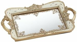 Bathroom Mirror Tray pink and gold mirrored tray perfume bathroom storage bedroom