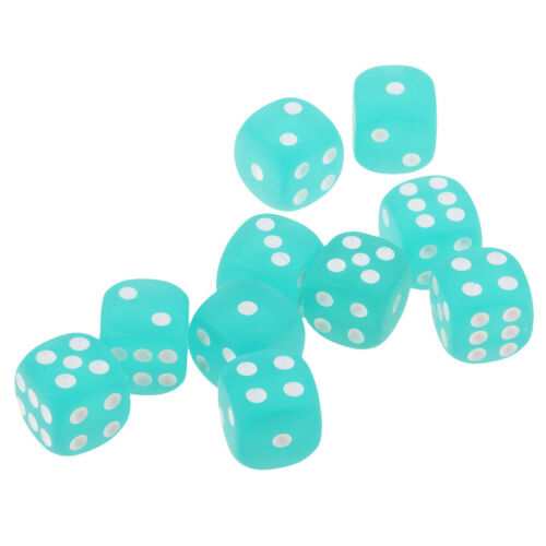 10x Dices Set 6 Sided for Role Playing Games Party Pub Bar Fun Casino Parts