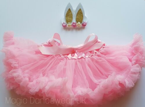 Baby Girls 1st Easter bunny outfit Cake Smash  frilly Tutu skirt Party dress 1-2