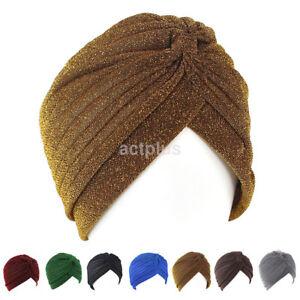 Details about Fashion Men s Women s Soft Elastic Indian Turban Winter Hat  Head Band Cap 741b5cd09dd