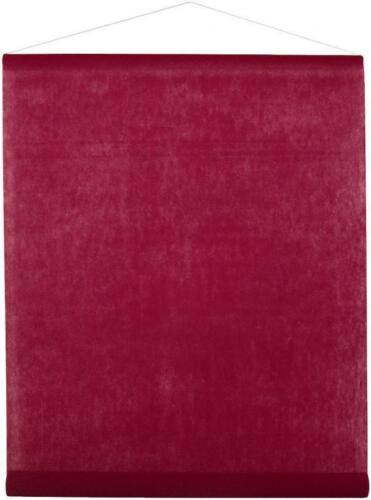 Banner für Wand und Deckendekoration bordeaux weinrot dunkelrot Vlies 70cm x 8m