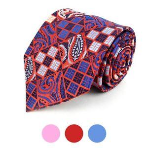 Paisley-Plaid-Mix-Pattern-Men-039-s-Necktie-MPW5737