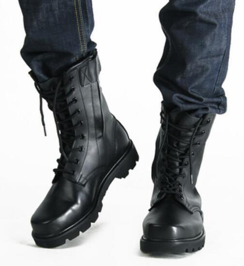 Mens Military Tactical Combat Desert Ankle Boots Boots Lace Up Zip Shoes Sz38-45