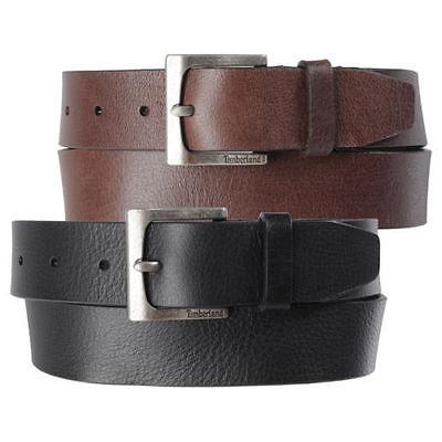 Timberland Mens 35Mm Classic Jean Belt Casual Belt Genuine Leather Black & Brown