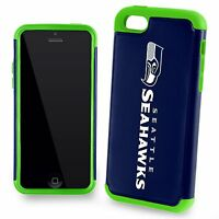 Seattle Seahawks For Apple Iphone 5c 5s 5 And Se Dual Hybrid 2 Piece Case